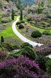 Sunken garden landscaping Stock Photos