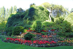 Sunken garden. Picture of the sunken garden at Butchart gardens,Victoria Royalty Free Stock Images