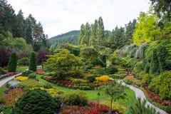 Sunken Gardens, Butchart Gardens, Victoria, BC, Canada Stock Images