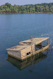 Sunken Houseboat Royalty Free Stock Photos