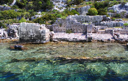 Sunken Lycian city Royalty Free Stock Photo