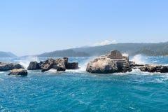 Sunken Lycian city on  Kekova island, Turkey Stock Images