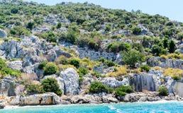 Sunken Lycian city on  Kekova island, Turkey Stock Image