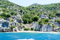Sunken Lycian city on  Kekova island, Turkey Royalty Free Stock Photography