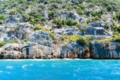 Sunken Lycian city on  Kekova island, Turkey Royalty Free Stock Images