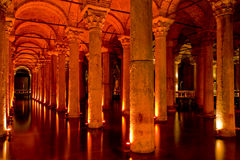 Sunken Palace in Istanbul Stock Photo