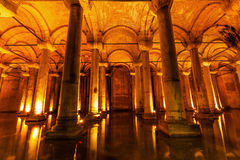 Sunken Palace in Istanbul, Turkey Stock Photography