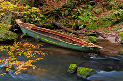 Sunken Rowboat Royalty Free Stock Photo