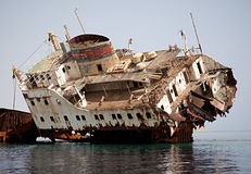 Sunken Russian ship. Royalty Free Stock Images