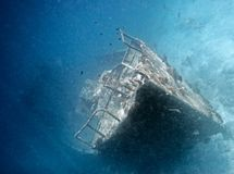 Sunken ship Stock Image