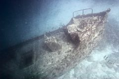 Sunken ship royalty free stock photos