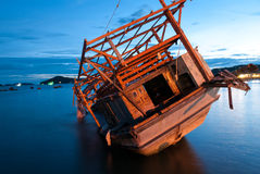 Old boat, Rayong, Thailand Stock Photo