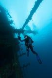 Sunken ship underwater diving Sudan Red Sea. Sunken ship wreck underwater diving Sudan Red Sea royalty free stock photos