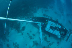 Sunken ship wreck Stock Photo