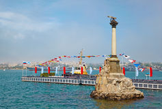The Sunken Ships Monument, symbol of Sevastopol Stock Photos