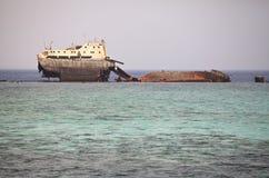 The sunken shipwreck. Royalty Free Stock Photos