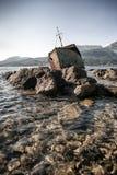 The sunken shipwreck Stock Photo