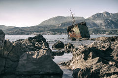 The sunken shipwreck Royalty Free Stock Photography