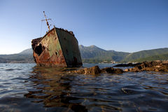 The sunken shipwreck Stock Photography