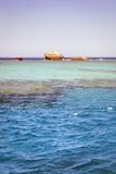 The sunken shipwreck on the reef, Red Sea, Sharm El Sheikh Stock Photography