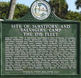 Sunken Spanish Treasure Ship Historic Marker Stock Image