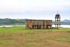 Sunken Temple, Sangkhlaburi Royalty Free Stock Images