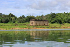 The Sunken temple, sinking temple Stock Images