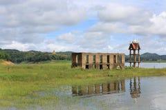 The Sunken temple, sinking temple Stock Photo