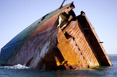 Sunken vessel Stock Image
