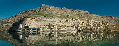 Sunken Village. Halfeti in Gaziantep Turkey Stock Photos
