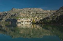 Sunken village Halfeti in Gaziantep Royalty Free Stock Photography