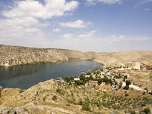 Sunken village Halfeti in Gaziantep Turkey Royalty Free Stock Photography