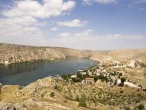 Sunken village Halfeti in Gaziantep Turkey Royalty Free Stock Photography