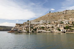 Sunken Village in Halfeti, Urfa. Halfeti is a small farming district on the east bank of the river Euphrates in Sanliurfa, Turkey Royalty Free Stock Photo