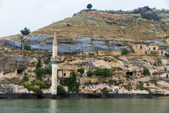 Sunken Village Savasan in Halfeti Stock Image