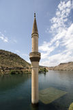 Sunken Village Savasan in Halfeti, Sanliurfa Turkey Stock Photo