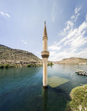 Sunken Village Savasan in Halfeti, Sanliurfa Turkey Stock Image