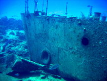 Sunken wreck of the Oro Verde Stock Photos