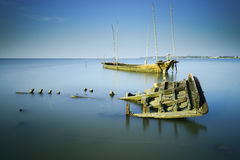 Sunken wrecks Royalty Free Stock Images