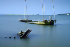Sunken wrecks Stock Images
