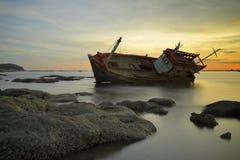 Sunken wrecks Royalty Free Stock Photos
