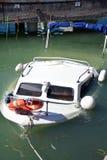 Sunken yacht Royalty Free Stock Photo