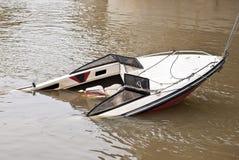 Sunken yacht Stock Images