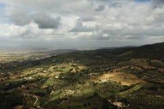 Sunkissed Italiaans Platteland Stock Fotografie
