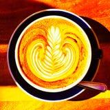 Sunkissed kaffe Arkivfoton