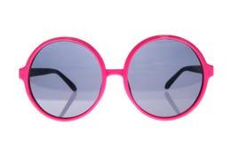 Sunlasses color de rosa redondos Fotografía de archivo libre de regalías