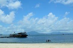 SunLiaoWan海滩 免版税库存照片