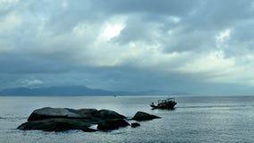 SunLiaoWan海滩 免版税库存图片
