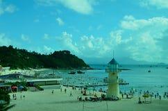 SunLiaoWan海滩 图库摄影