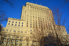 Sunlife building. MONTREAL QUEBEC CANADA 01 06 2017: Sunlife building in Montreal canada.The Sun Life Building is an historic office building at 1155 Metcalfe Stock Photos
